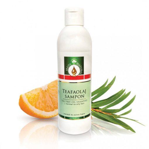 MediNatural Teafaolaj Sampon + keratin - normál és zsíros hajra 250ml