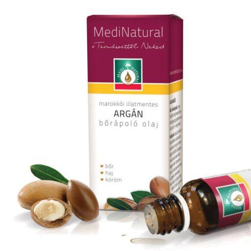 MediNatural marokkói Argán bőrápoló olaj (illatmentes) 20ml
